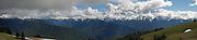 "Hurricane Ridge, Olympic National Park WA. (stitched panorama, 12""x58"" @360 dpi)"