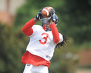 Ole Miss defensive back Charles Sawyer (3) at football practice in Oxford, Miss. on Sunday, August 4, 2013.