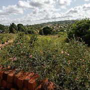Afripads, a social enterprise that manufactures resuable sanitary pads, is located in the village of Kitengeesa in the Central Region of Uganda, seen in the distance on 30 July 2014.