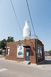 Enlarged Milk Carton on Route 66 in Oklahoma City, OK