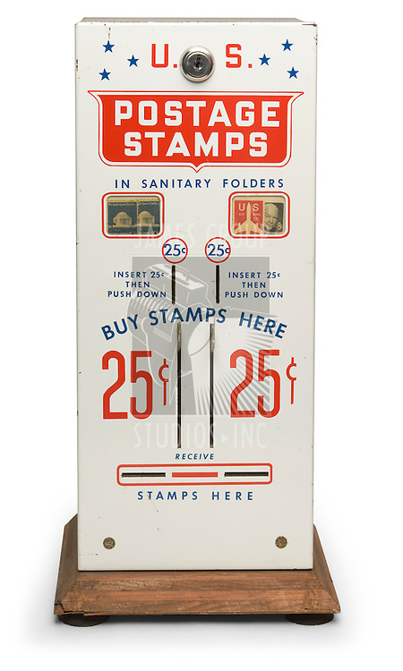 Vintage postage stamp vending machine