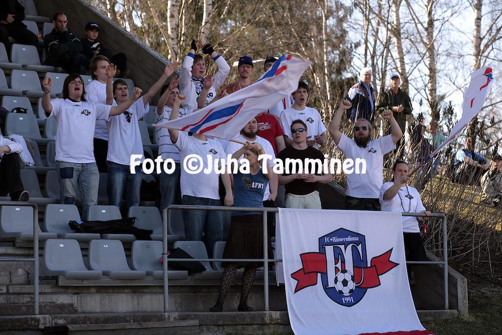 25.04.2009, Kauriala, H?meenlinna, Finland..Ykk?nen 2009.FC H?meenlinna - AC Oulu.FC H?meenlinnan faniryhm? Kaurialassa.©Juha Tamminen.