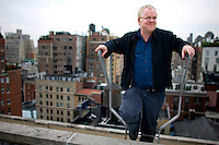 Oscar winner, Philip Seymour Hoffman on the roof of the Regency Hotel in New York, Oct. 18, 2007.