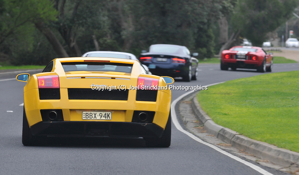 2005 Lamborghini Gallardo (Giallo Midas) .Corporate Drive Day with Octane Events & The Supercar Club.Mornington Pennisula, Victoria .6th-7th of August 2009 .(C) Joel Strickland Photographics