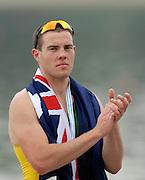 Ottensheim, AUSTRIA.  A  Final,  AUS JM1X Taylor WILZCYNSKI, Bronze Madallist, at the 2008 FISA Senior and Junior Rowing Championships,  Linz/Ottensheim. Saturday,  26/07/2008.  [Mandatory Credit: Peter SPURRIER, Intersport Images] Rowing Course: Linz/ Ottensheim, Austria