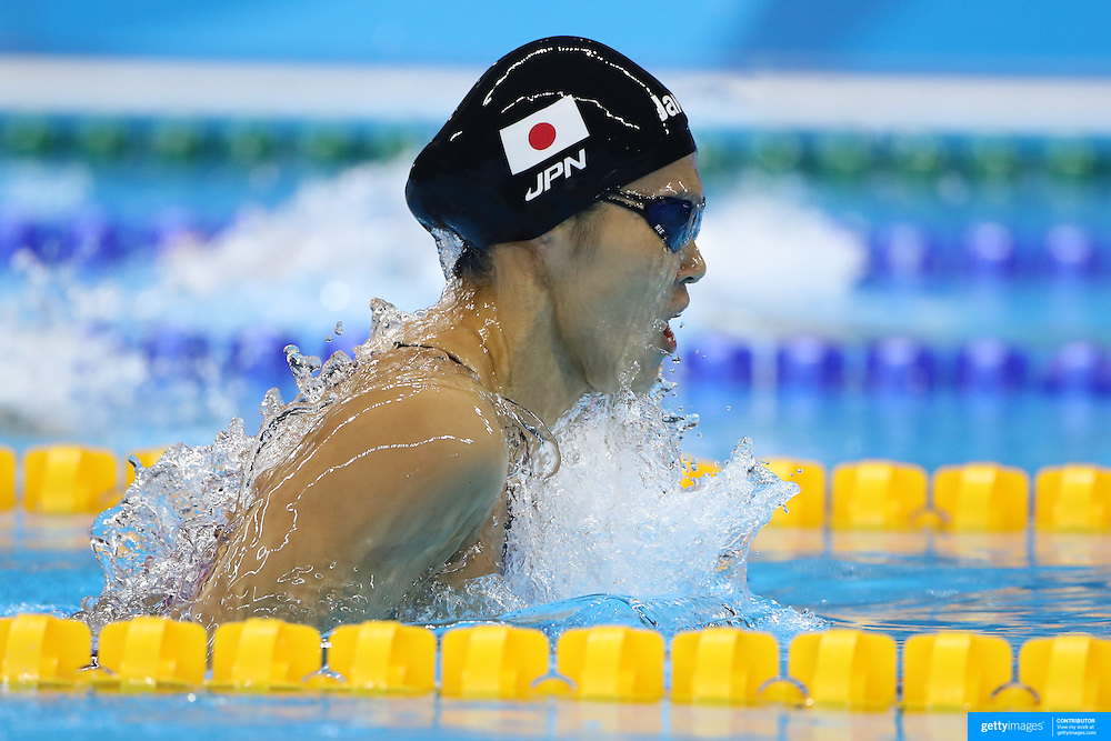 Swimming - Olympics: Day 6   Rie Kaneto of Japan winning the Women's 200m Breaststroke Final during the swimming competition at the Olympic Aquatics Stadium August 11, 2016 in Rio de Janeiro, Brazil. (Photo by Tim Clayton/Corbis via Getty Images)