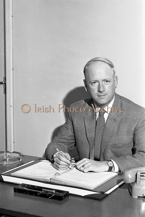 19/09/1963<br /> 09/19/1963<br /> 19 September 1963<br /> Mr. J.G. Crossan, at his desk at I.C.T. Adelaide Road, Dublin.