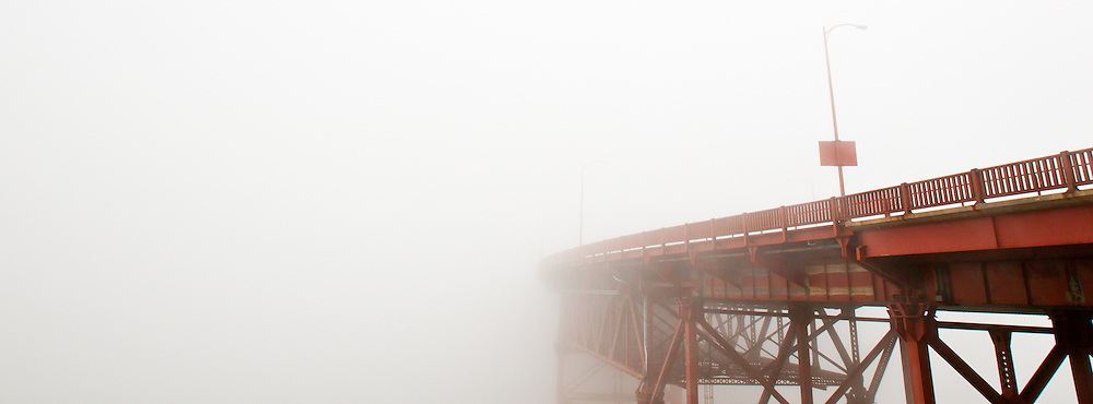 Golden Gate Bridge fogged in