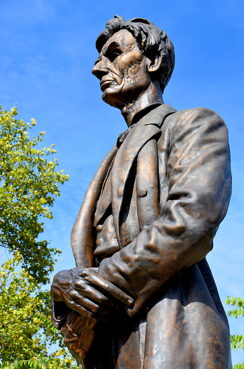 Abraham Lincoln Statue at Lytle Park by George Barnard in Cincinnati, Ohio<br />