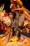 Traditional Dancer, Milk River Indian Days Pow Wow, Fort Belknap Indian Reservation, Montana.