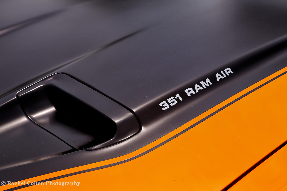 &quot;351 RAM AIR&quot;<br /> <br /> Cool American muscle car detailing in the 351 RAM AIR. Clean lines and curves. Car lovers!!<br /> <br /> Cars and their Details by Rachel Cohen