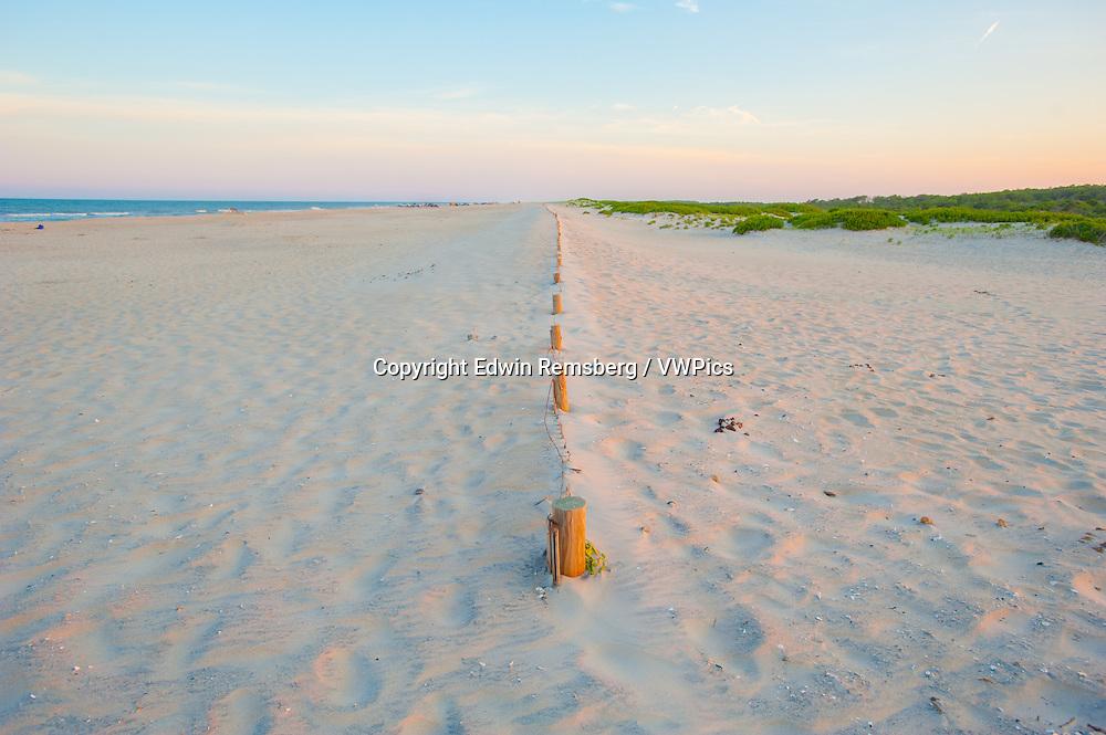 Sandy beach at the Assateague Island National Seashore, Maryland, USA