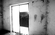 Traces of dried blood in one of the room inside the ex-Comarca, Balide prison in Dili. The building was formerly a prison for the detention of political prisoners and is currently housing the Commission for Reception, Truth and Reconciliation ( CAVR ). @ Martine Perret. 18 May 2002