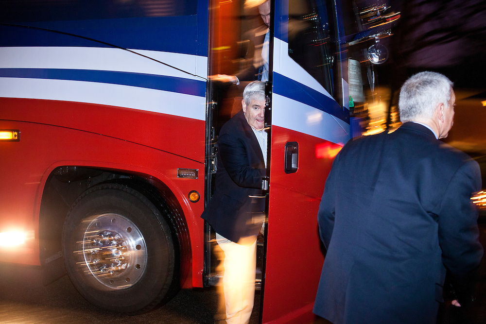 Republican presidential candidate Newt Gingrich arrives to speak at a campaign event at the Wakonda Club on Friday, December 30, 2011 in Des Moines, IA.