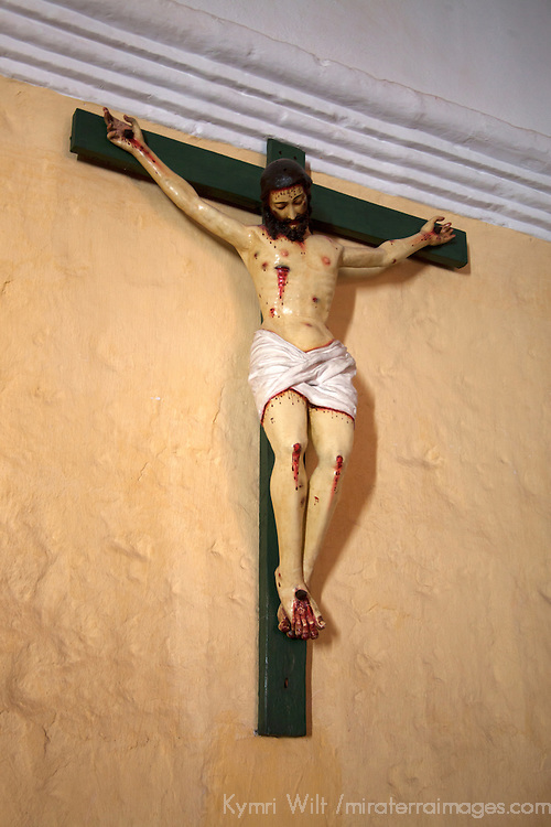 South America, Peru, Arequipa. Jesus on Cross at Monasterio de Santa Catalina.