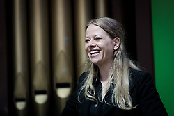 © Licensed to London News Pictures. 28/04/2017. LONDON, UK. SIAN BERRY at the Green Party LGBTIQA+ manifesto launch, at Trinity United Reform Church in London. Jonathan Bartley and Aimee Challenor today set out set out the Green Party LGBTIQA+ manifesto pledges, including commitment to provide the HIV prevention drug PrEP on the NHS.  Photo credit: Vickie Flores/LNP