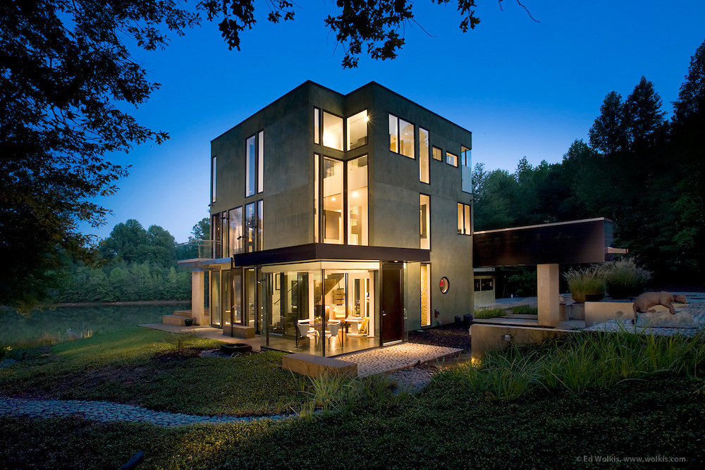 Residential Interior Exterior Daylight And Dusk Architectural Photography By Atlanta Based Photographer Ed Wolkis  O