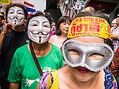 """""""White Masks"""" Protest in Bangkok"""