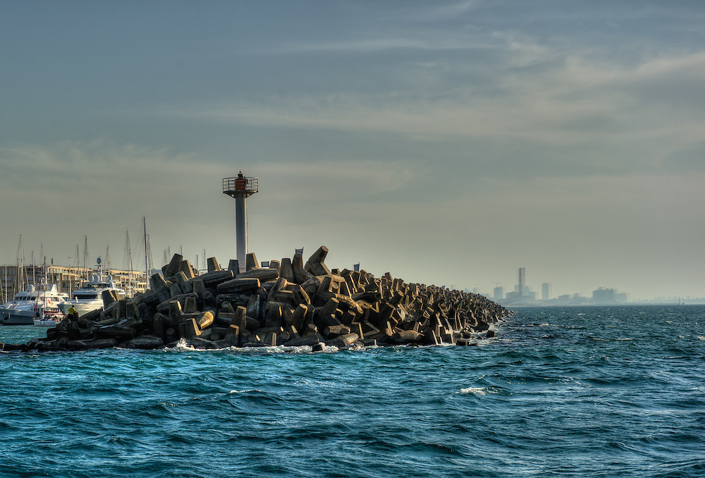 Herzliya harbour entrance