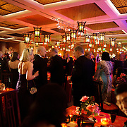 The main room downstairs featured a band and large dance floor