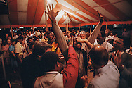 Tent revival conducted by the non-denominational Rock Church in Virginia Beach, Virginia