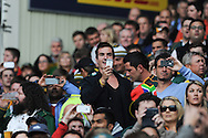 CAPE TOWN, SOUTH AFRICA - Saturday 28 September 2013,  spectators sing the South African national anthem as some film it on their Blackberry's and iPhone during the Castle Lager Rugby Championship test match between South Africa (Sprinkboks) and Australia (Wallabies) at DHL Newlands in Cape Town.<br /> Photo by Roger Sedres/ ImageSA