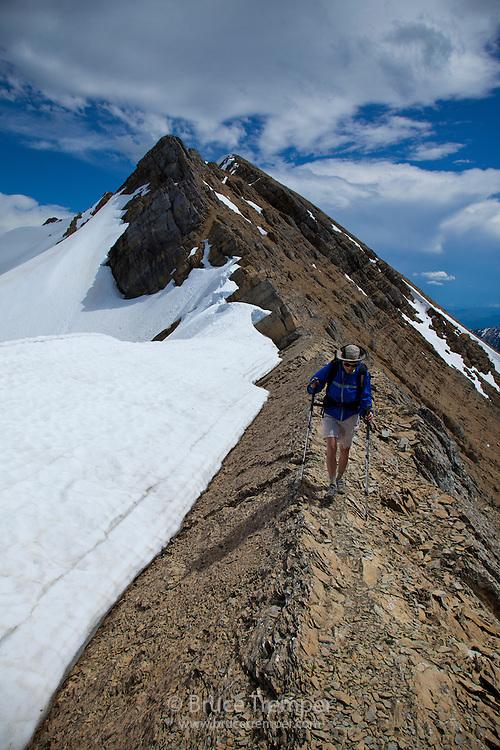 Ascending Great Northern Peak, Bob Marshall Wilderness, Montana