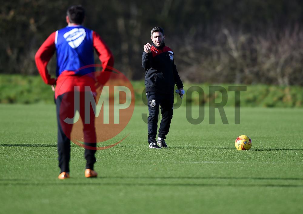 Lee Johnson, new head coach of Bristol City takes training for the first time   - Mandatory byline: Joe Meredith/JMP - 08/02/2016 - FOOTBALL - Ashton Gate - Bristol, England - Lee Johnson