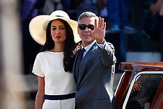 SEP 29 2014 George Clooney & Amal Alamuddin wedding in Venice