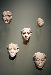 Egyptian portrait studies of Kings at Neues Museum or New Museum on Museumsinsel or Museum Island in Berlin