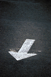 Design image white directional arrow