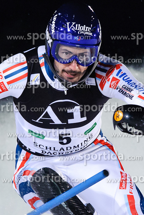 25.01.2011, Planai, Schladming, AUT, FIS World Cup Ski Alpin, Men, Slalom, im Bild // Jean-Baptiste Grange (FRA) // during the men night slalom race at the FIS Alpine skiing World cup in Schladming, EXPA Pictures © 2011, PhotoCredit: EXPA/ S. Zangrando