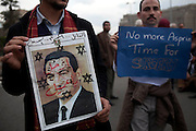 Thousands gathered in Cairo's Tahrir Square January 30,2011 demanding that Egypt's President Hosni Mubarak step down from power . (Photo by Heidi Levien/Sipa Press).