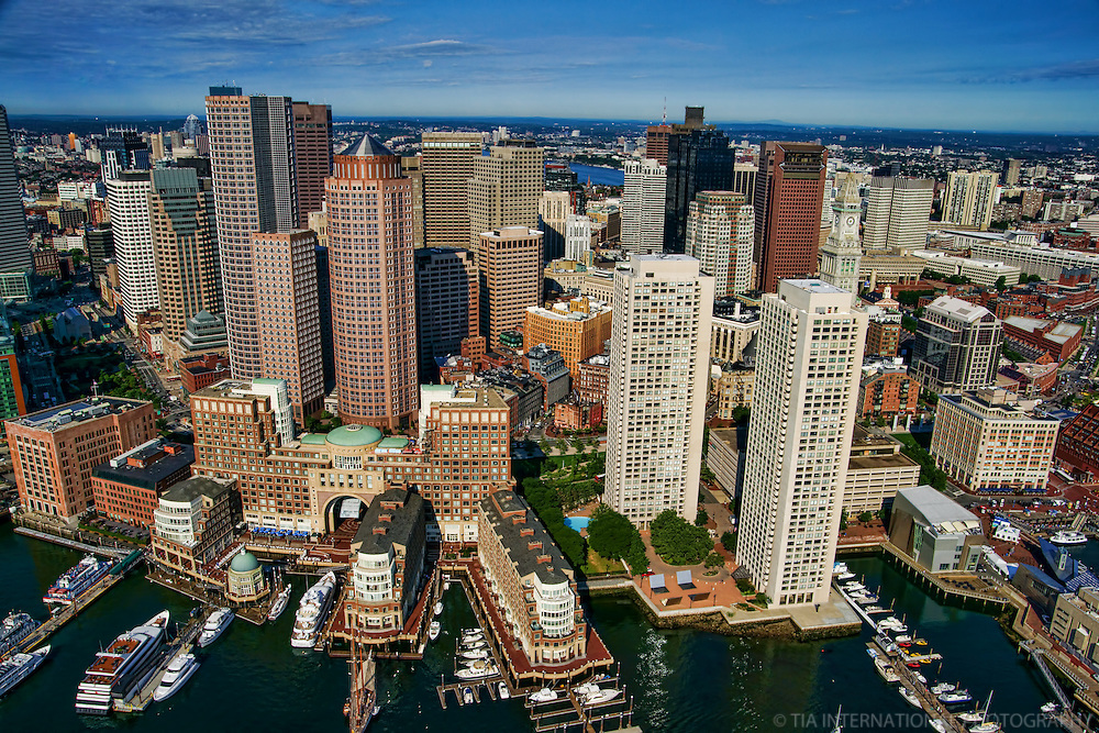 Downtown Boston featuring Boston Harbor Hotel (lower left)