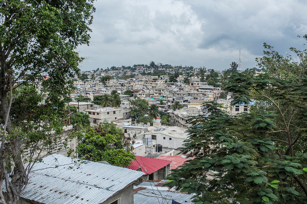 A residential neighborhood on Sunday, December 14, 2014 in Port-au-Prince, Haiti.