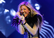 Ellie Goulding performs live on stage at 02 Arena on March 9, 2014 in London, England.  (Photo by Simone Joyner)