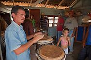Drummer near Belic, Granma, Cuba.