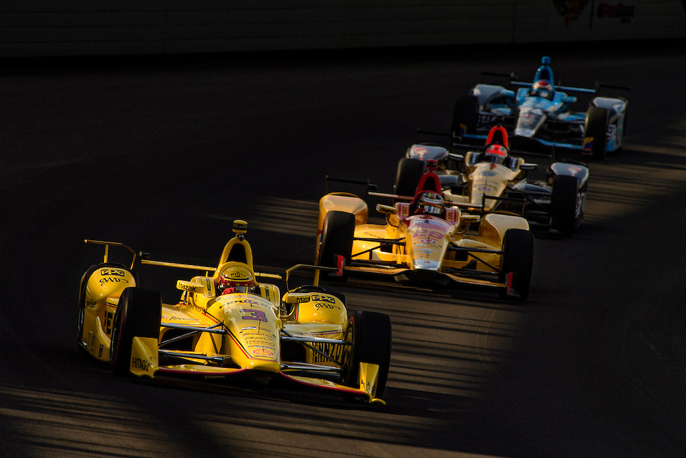 16-20 May, 2016, Indianapolis, Indiana, USA<br /> Helio Castroneves, Ryan Hunter-Reay, James Hinchcliffe, Carlos Munoz<br /> &copy;2016, Scott R LePage <br /> LAT Photo USA