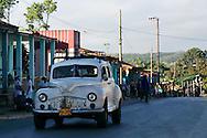 Old American car in Vinales, Pinar del Rio, Cuba.