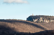Gardiner, New York - A view of Skytop Tower on Paltz Point at the Mohonk Preserve on April 11, 2015.