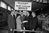 1967 - Musgrave-Brooke Bond Ltd. presentation at Connolly's Supermarket, Dun Laoghaire