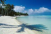Matira Beach, Bora Bora, Tahiti. .