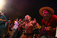 Celebrating in the main concert at the village annual summer festivity. The Rainbow family was invited to participate in the annual summer festivity of the village of Salto.  European Rainbow Gathering of 2011 in Portugal