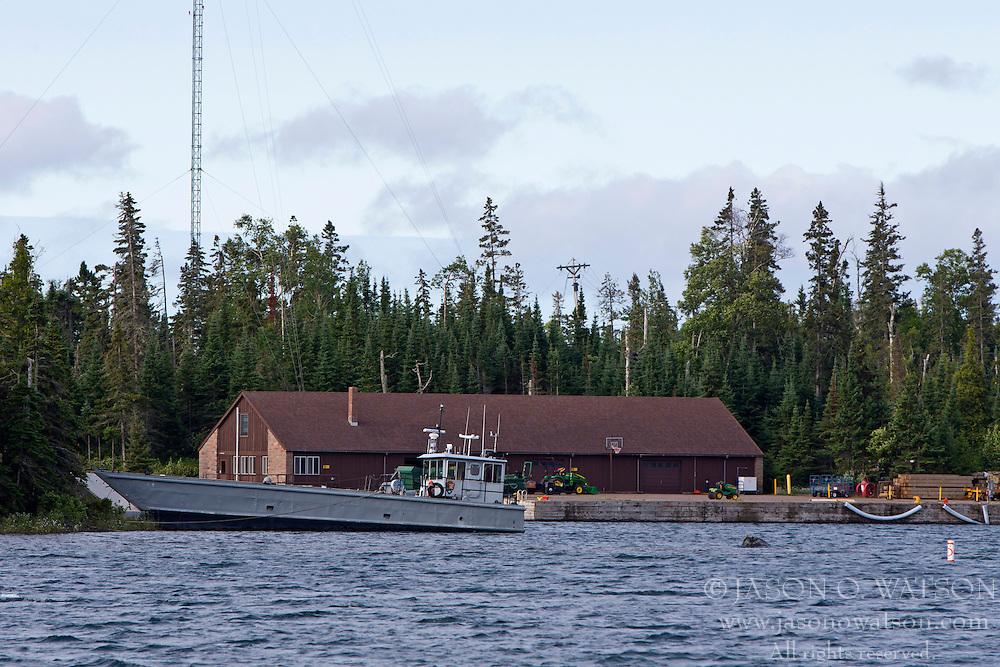 National Park Service headquarters, Mott Island, Isle Royale National Park, Michigan, United States of America