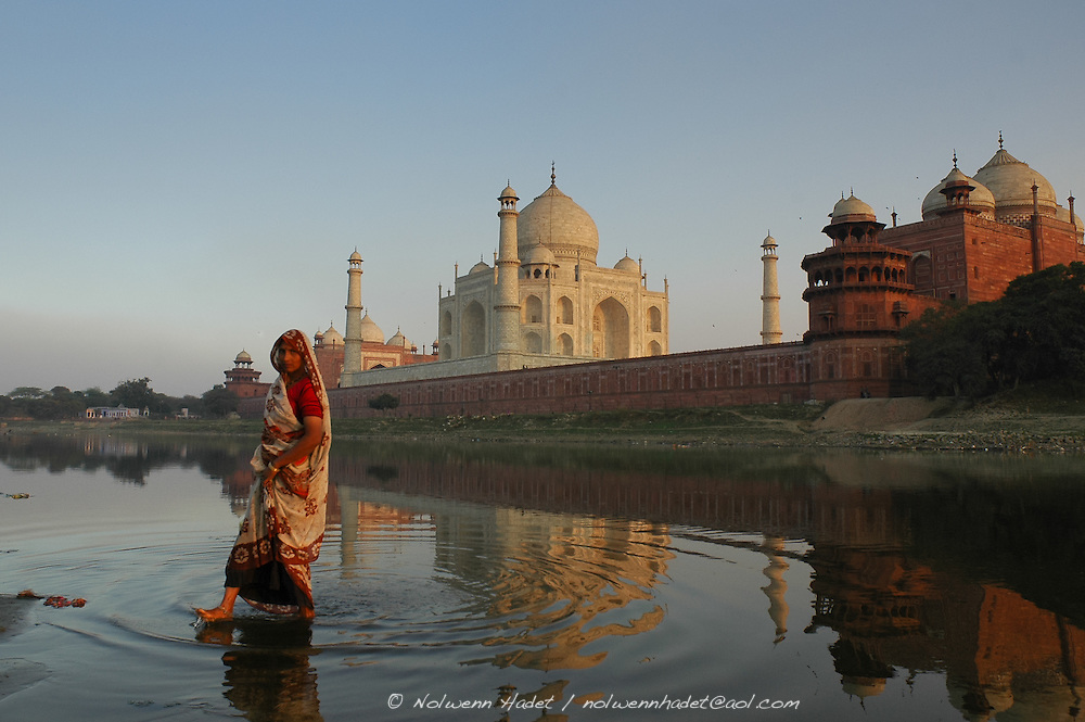 Inde india landscape architecture taj mahal femme for Architecture inde