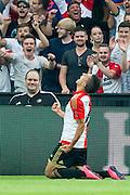 ROTTERDAM - Feyenoord - Vitesse , Voetbal , Seizoen 2015/2016 , Eredivisie , De Kuip , 23-08-2015 , Speler van Feyenoord Bilal Basaçikoglu viert zijn doelpunt voor de 2-0