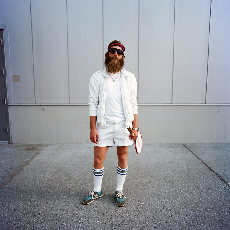 ANCHORAGE, ALASKA - 2009: Brett Schmitz at the World Beard and Mustache Championships.