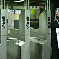 New York Subway. New York City.23rs street stop in Manhattan.