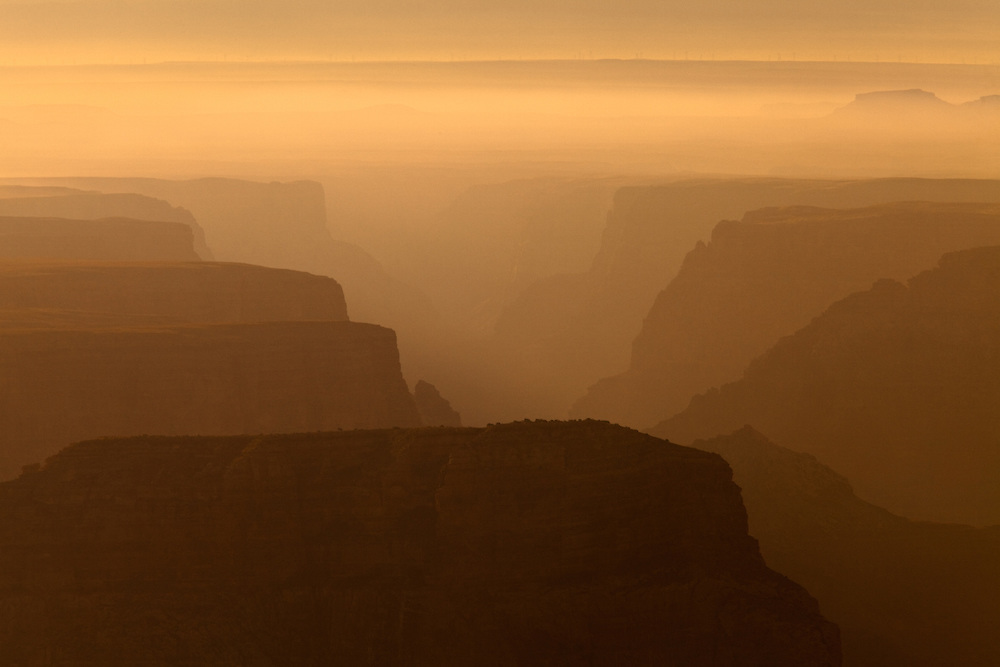 Early morning over the Little Colorado River Gorge. Grand Canyon National Park, Arizona.