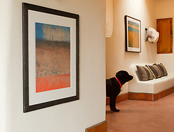 Santa Fe, NM residence with fine art photographs on the walls by Rob Lang.
